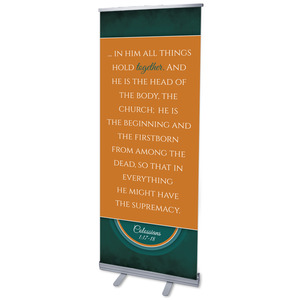 "Together Circles Col 1 2'7"" x 6'7""  Vinyl Banner"