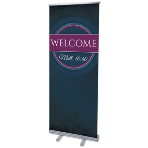 "Together Circles Welcome 2'7"" x 6'7""  Vinyl Banner"