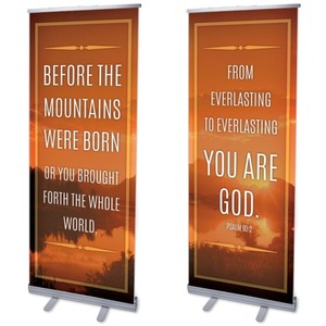 "Before The Mountains 2'7"" x 6'7""  Vinyl Banner"