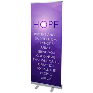 "Advent Luke 2 Hope 2'7"" x 6'7""  Vinyl Banner"