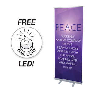 Advent Luke 2 Peace Banners