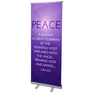"Advent Luke 2 Peace 2'7"" x 6'7""  Vinyl Banner"