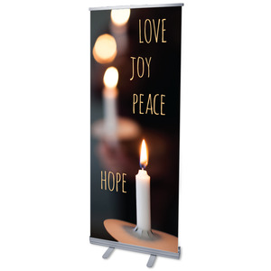 "Candle Advent Words 2'7"" x 6'7""  Vinyl Banner"