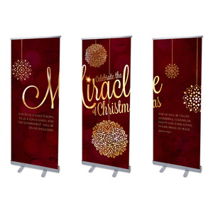 "Celebrate the Miracle 2'7"" x 6'7""  Vinyl Banner"
