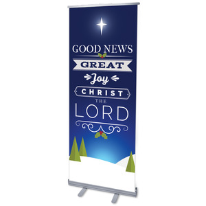 "Christ The Lord 2'7"" x 6'7""  Vinyl Banner"