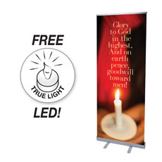Glory to God Candle Banner