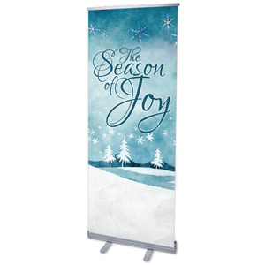 "Season of Joy 2'7"" x 6'7""  Vinyl Banner"