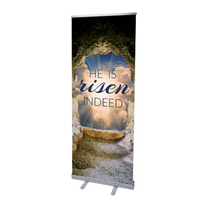 Risen Open Tomb Banners