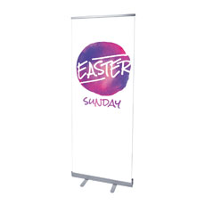 Watercolor Circle Easter Banner