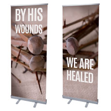By His Wounds Pair Banner
