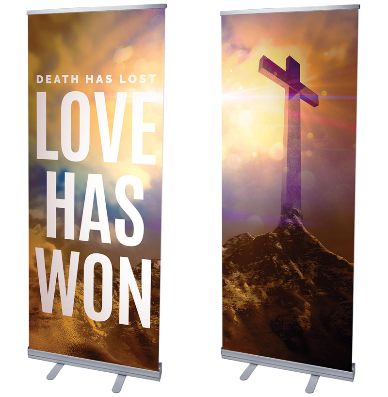 Banners, Easter, Love Has Won Pair, 2'7 x 6'7
