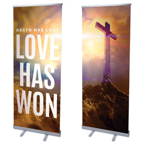 "Love Has Won Pair 2'7"" x 6'7""  Vinyl Banner"