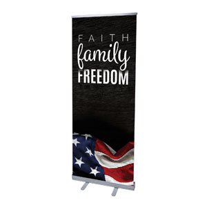 "Faith Family Freedom 2'7"" x 6'7""  Vinyl Banner"
