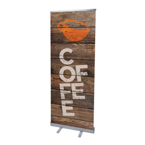 "Shiplap Coffee Natural 2'7"" x 6'7""  Vinyl Banner"