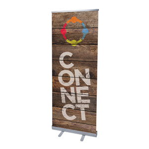 "Shiplap Connect Natural 2'7"" x 6'7""  Vinyl Banner"