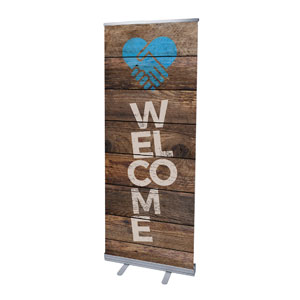 "Shiplap Welcome Natural 2'7"" x 6'7""  Vinyl Banner"