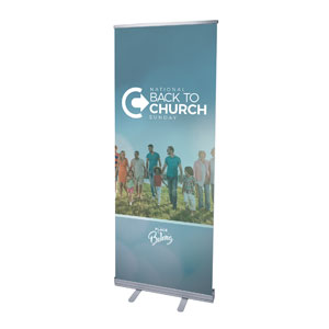 "Back to Church Sunday People 2'7"" x 6'7""  Vinyl Banner"