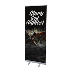 Glory God Manger Banner