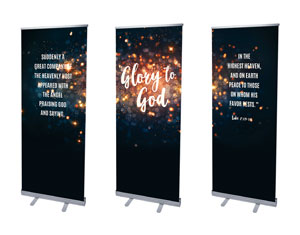"Glory to God Stars 2'7"" x 6'7""  Vinyl Banner"