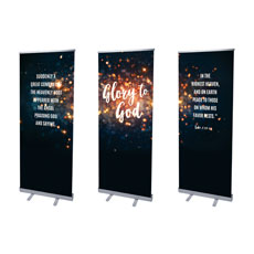 Glory to God Stars Banner