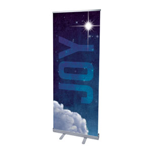 "Joy Clouds 2'7"" x 6'7""  Vinyl Banner"