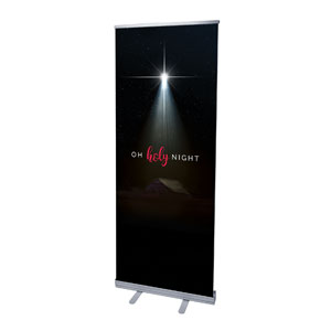 "Oh Holy Night 2'7"" x 6'7""  Vinyl Banner"