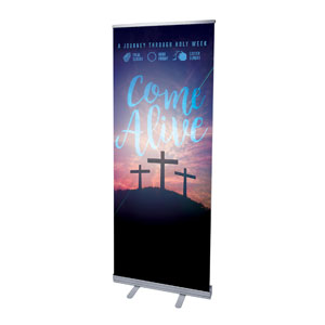 "Come Alive Easter Journey 2'7"" x 6'7""  Vinyl Banner"
