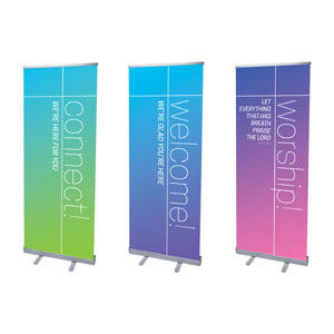 "Color Wash Core Set 2'7"" x 6'7""  Vinyl Banner"
