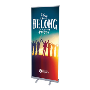 "BTCS You Belong Here 2'7"" x 6'7""  Vinyl Banner"