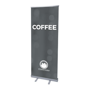 CityReach Blurred Gray Coffee Banners