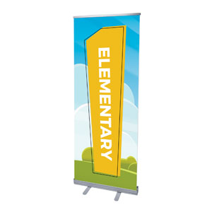 "Bright Meadow Elementary 2'7"" x 6'7""  Vinyl Banner"