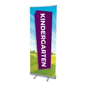 "Bright Meadow Kindergarten 2'7"" x 6'7""  Vinyl Banner"