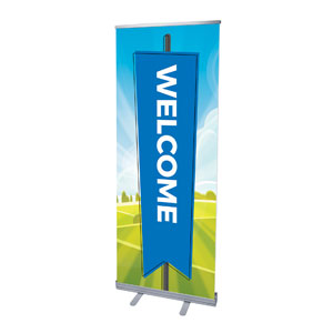 "Bright Meadow Welcome 2'7"" x 6'7""  Vinyl Banner"
