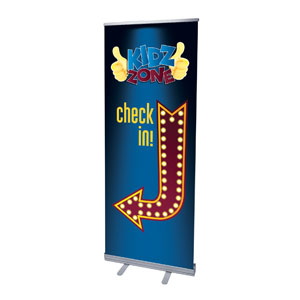 "Marquee Check In 2'7"" x 6'7""  Vinyl Banner"