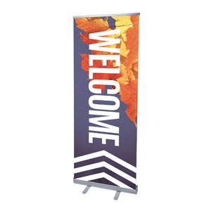 "Chevron Welcome Fall 2'7"" x 6'7""  Vinyl Banner"