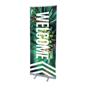 "Chevron Welcome Winter 2'7"" x 6'7""  Vinyl Banner"