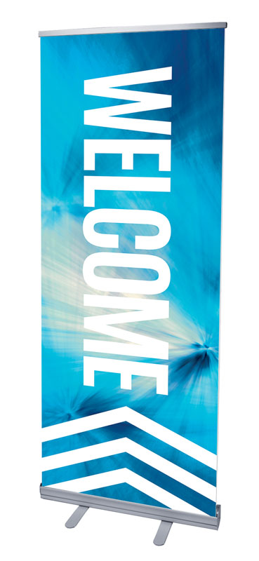 Banners, Welcome, Chevron Welcome Blue, 2'7 x 6'7