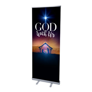 "God With Us Advent 2'7"" x 6'7""  Vinyl Banner"