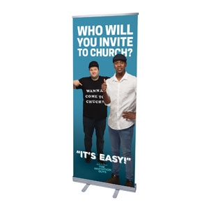 "Josh and Steve Thumbs Up 2'7"" x 6'7""  Vinyl Banner"