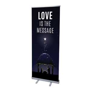"Love Is the Message 2'7"" x 6'7""  Vinyl Banner"