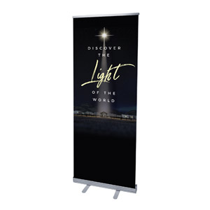 "Discover Light of World 2'7"" x 6'7""  Vinyl Banner"