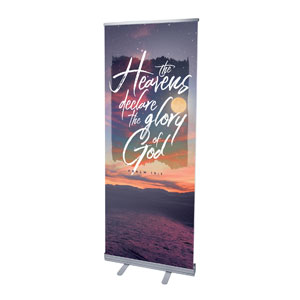 "Beautiful Praise Heavens Declare 2'7"" x 6'7""  Vinyl Banner"