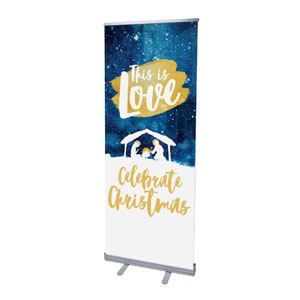 "Painted Nativity 2'7"" x 6'7""  Vinyl Banner"