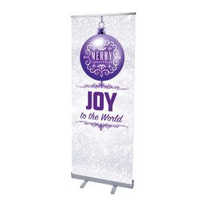"Silver Snow Joy Ornament 2'7"" x 6'7""  Vinyl Banner"