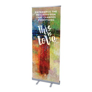 "This is Love Easter 2'7"" x 6'7""  Vinyl Banner"