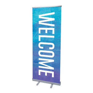 "Blue Purple Easter At 2'7"" x 6'7""  Vinyl Banner"