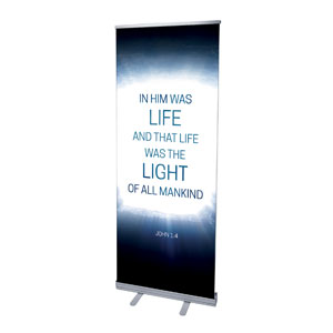 "Easter Tomb Light of Mankind 2'7"" x 6'7""  Vinyl Banner"