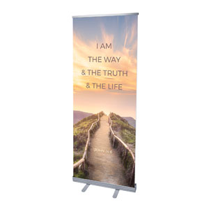 "Way Truth Life Path 2'7"" x 6'7""  Vinyl Banner"