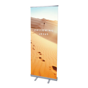 "Following Jesus Sand Dunes 2'7"" x 6'7""  Vinyl Banner"