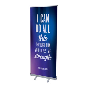"Aurora Lights Phil 4:13 2'7"" x 6'7""  Vinyl Banner"
